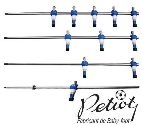 joueurs baby foot moul s sur barre petiot standard et. Black Bedroom Furniture Sets. Home Design Ideas