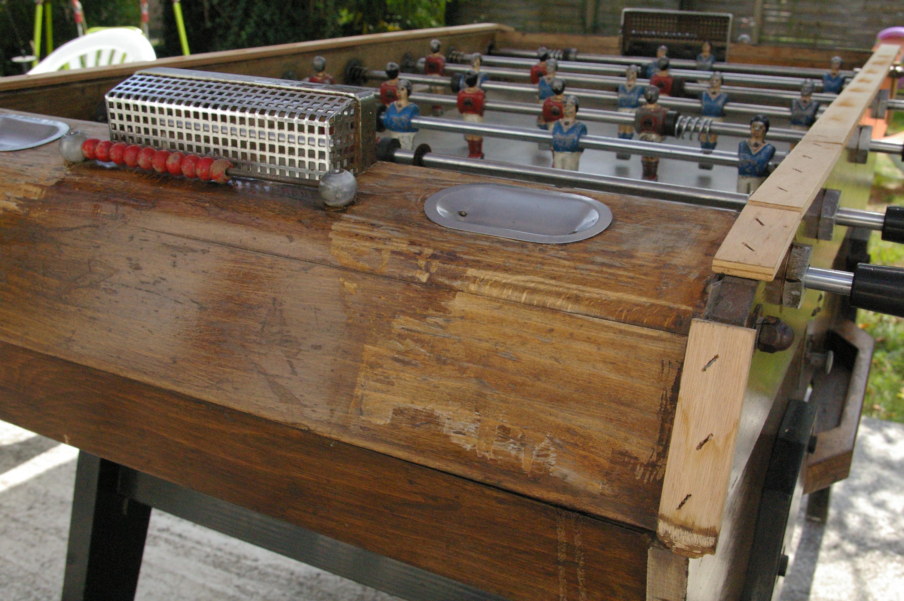 tout savoir pour r nover et restaurer votre ancien baby foot en bois. Black Bedroom Furniture Sets. Home Design Ideas