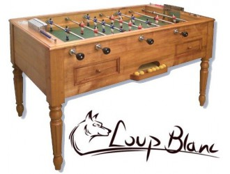 Baby-foot Loup Blanc Babylonia Style Louis Philippe