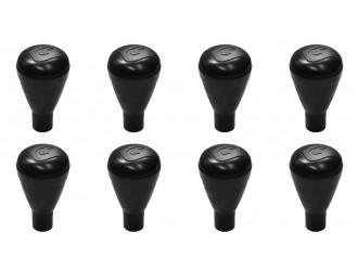 Poignées rondes noires Catenaccio (x8)