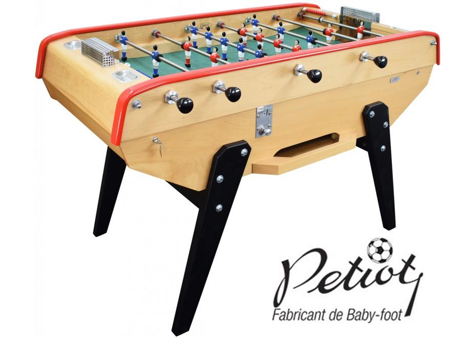 Baby Foot Petiot Monnayeur Café hêtre naturel