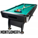 Billard Americain 7FT noir tapis vert Montgomery