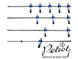 Joueurs baby-foot moulés sur barre Petiot Standard et ressort