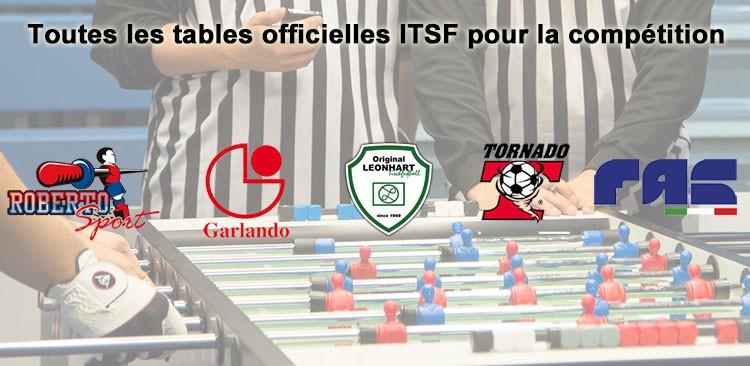 Baby foot spécial ITSF pour la compétition